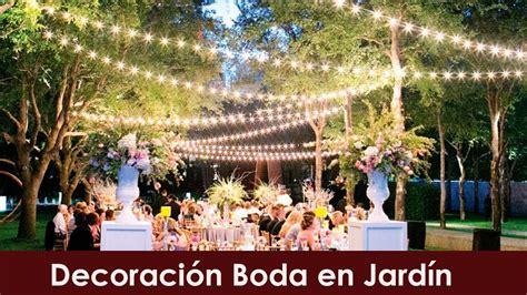 decoracion boda jardin youtube