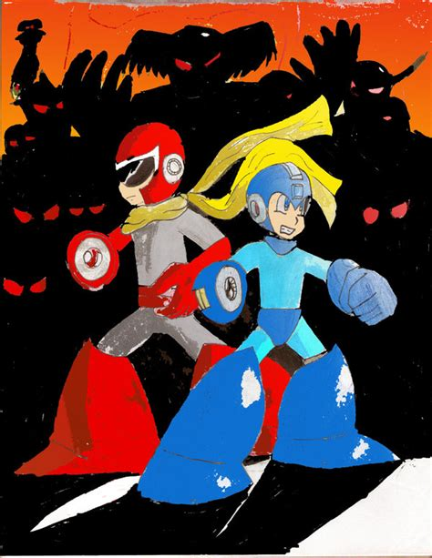 Megaman And Protoman Vs All By Andresxz On Deviantart