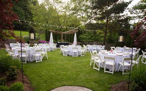 intimate backyard wedding inspiration bridal tablecloths