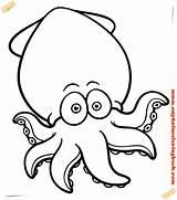 Coloring Cartoon Octopus Printable Keyword sketch template