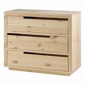 Commode À Peindre : commode pin massif brut 3 tiroirs customize mooviin ~ Carolinahurricanesstore.com Idées de Décoration