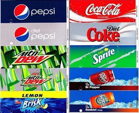 pepsivendingmachinelabels  images soda labels