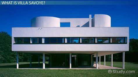 villa savoye plans structure analysis video lesson