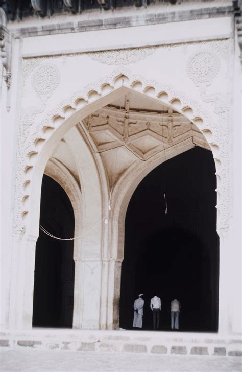 jami masjid  bijapur detail  central arch  prayer