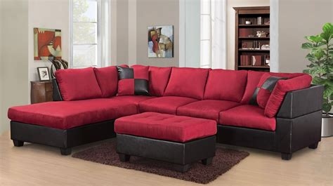 red microfiber sectional red sectional sofa living room