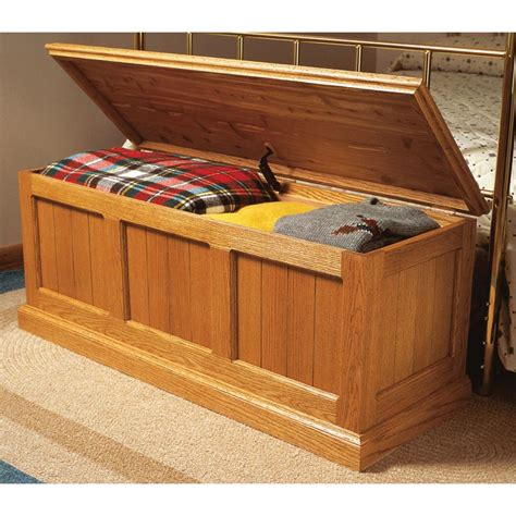 cedar lined oak chest woodworking plan  wood magazine