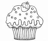 Cupcake Coloring Cupcakes Cartoon Muffin Drawing Simple Printable Colouring Sheets Printables Nice Getdrawings Canned Flower Mainstream Cat Getcolorings Popular sketch template