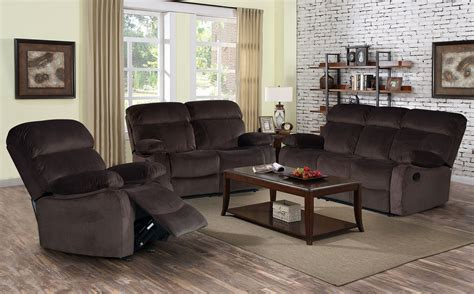 reclining sofa set pics izabella dark chocolate