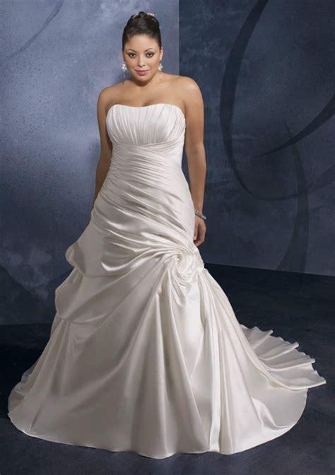 simple elegant pleated  size wedding dress strapless