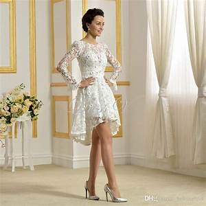 2017 delicate above knee length wedding dresses white lace With delicate wedding dresses