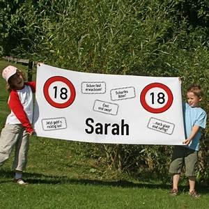 Deko 18 Geburtstag Junge : banner zum 18 geburtstag ~ Frokenaadalensverden.com Haus und Dekorationen