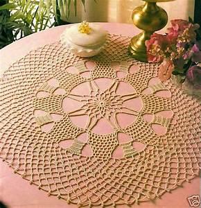 Lacy 20 1  2 U0026quot  Starlet Doily  Crochet Pattern Instructions