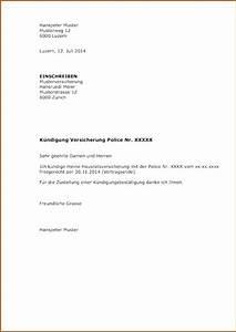Vorlage Kündigung Versicherung Kfz Kündigung Vorlage