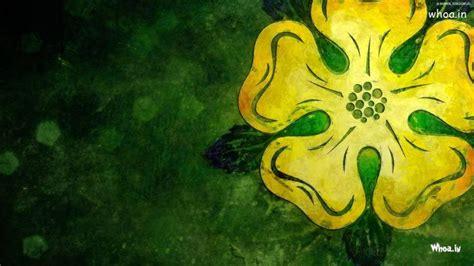 yellow flower painting hd desktop wallpapaer