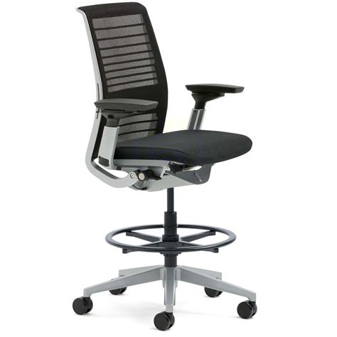 Ergonomic Monitor Stand by Shop Steelcase Think Drafting Stools With 3d Knit Back
