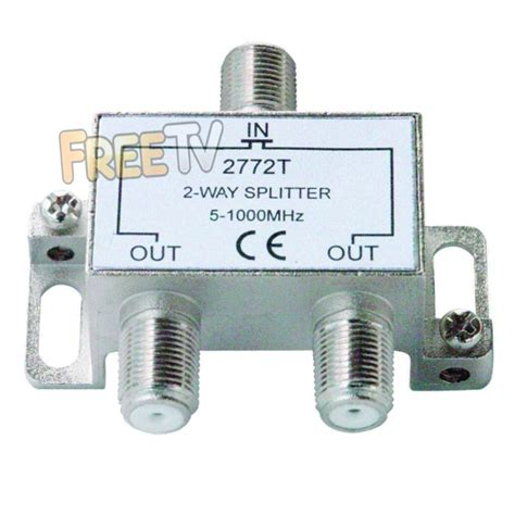 2 way tv splitter to run tv signal to up to 2 tvs