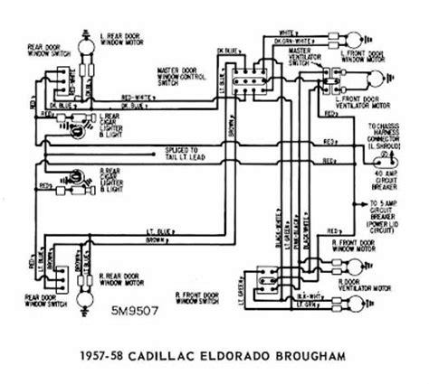 1958 Chevy Wiring Diagram Schematic by Cadillac Eldorado Brougham 1957 1958 Windows Wiring