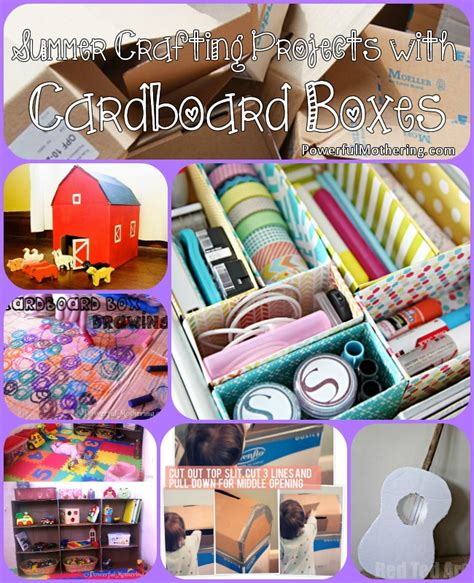 box crafts ideas summer crafting projects with cardboard boxes 1165