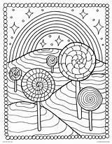 Lollipop Candyland Lollipops Arcoiris íris sketch template