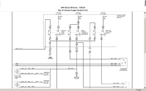 Mack Ch600 Fuse Box Diagram by I Drive A 1995 Ch613 Mack Truck And I Want To Check The