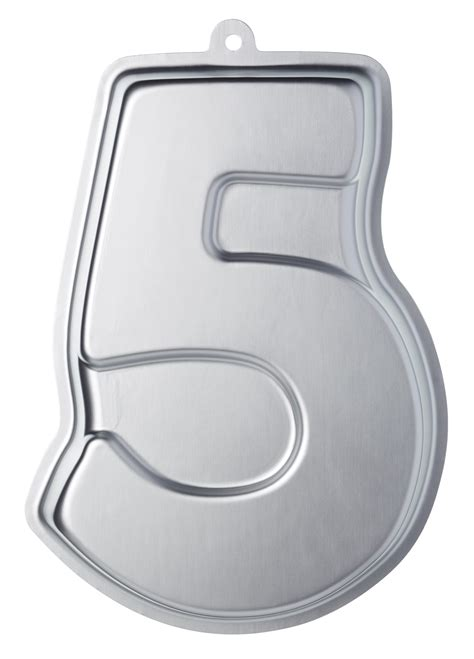 Kitchen Craft Number by Sweetly Does It Silver Anodised Number Five Shaped Cake