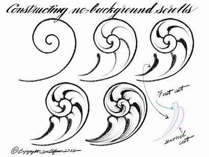 Engraving Scroll Metal Drawing Tutorial Patterns Leather