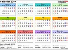 January 2019 Calendar Canada yearly printable calendar