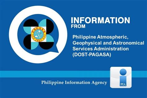 Philippine atmospheric, geophysical and astronomical. Press Releases   PAGASA   Philippine Information Agency