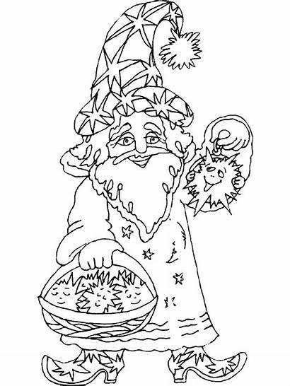 Coloring Pages Magician Wizard Fantasy Magic Magicians