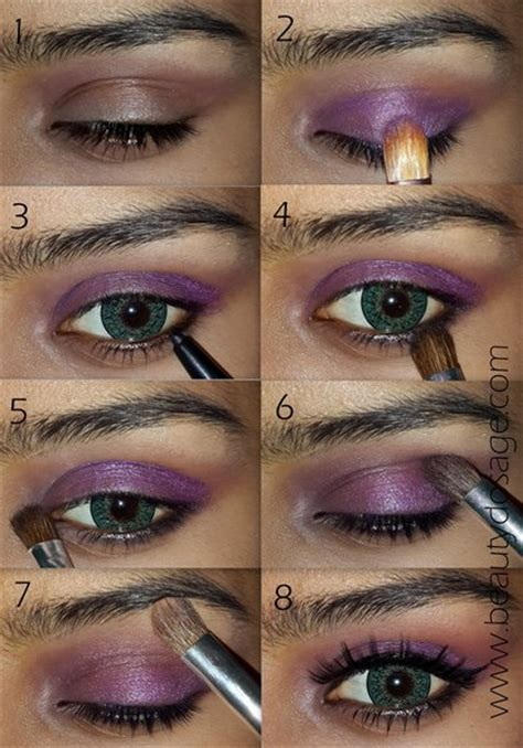 fashionable smoky purple eye makeup tutorials   occasions styles weekly