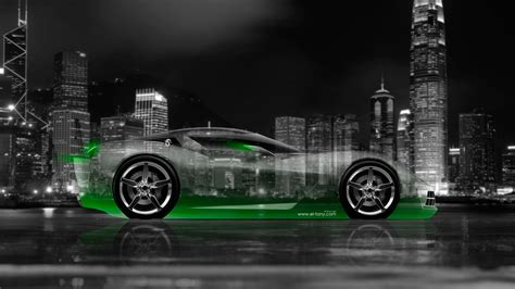 chevrolet corvette stingray side crystal city car