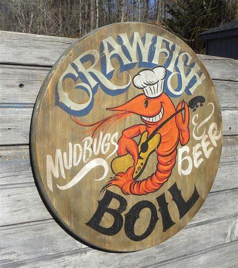 crawfish boil sign original wooden sign quot faux vintage