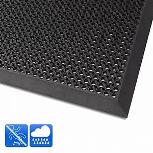 tapis antiderapant exterieur caillebotis caoutchouc noir With tapis de douche antidérapant sur mesure