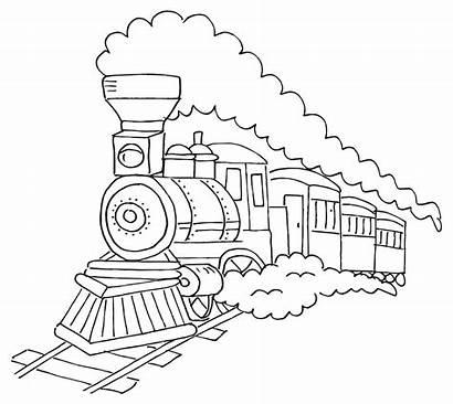 Train Clipart Drawing Cartoon Trein Steam Kleurplaat