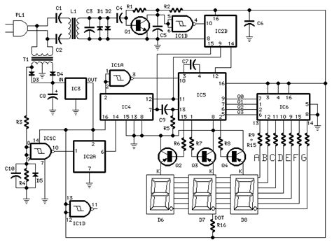 How Build Digital Remote Thermometer Circuit Diagram