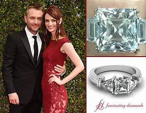 first pictures of lydia hearst heirloom trinity diamond With chris hardwick wedding ring