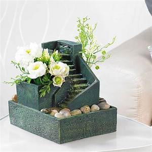 Geschenke Auf Rechnung Bestellen : beruhigender zimmerbrunnen zum bepflanzen mit steinstufen ~ Themetempest.com Abrechnung