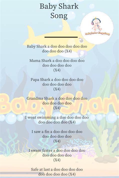 lyrics  baby shark song sing  nursery rhymes