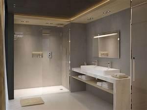 salle de bains beton cire idees deco pour s39inspirer With salle de bain en dur
