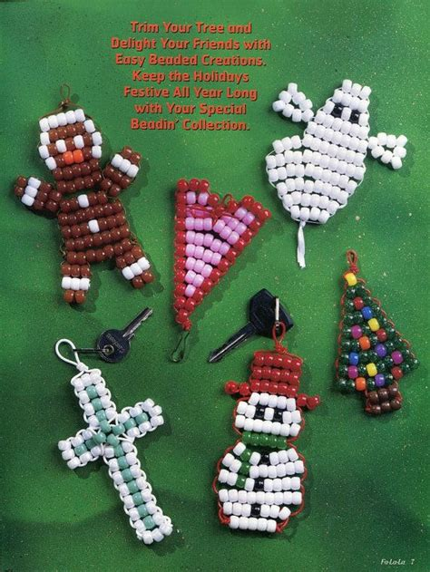 beading easy  pony beads pattern craft book projects