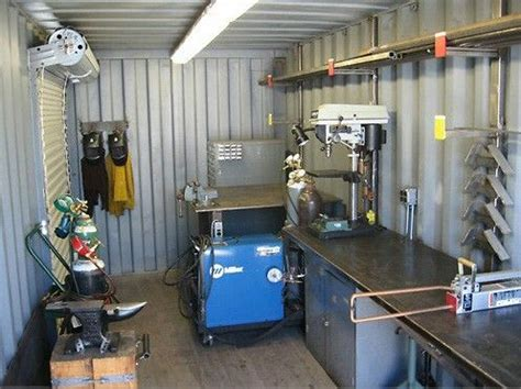 awesome setup  shipping container   welding
