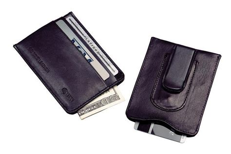 Front pocket money clip credit card. Leather Money Clip & Credit Card Holder. Features two credit card slots. Fits easily into front ...