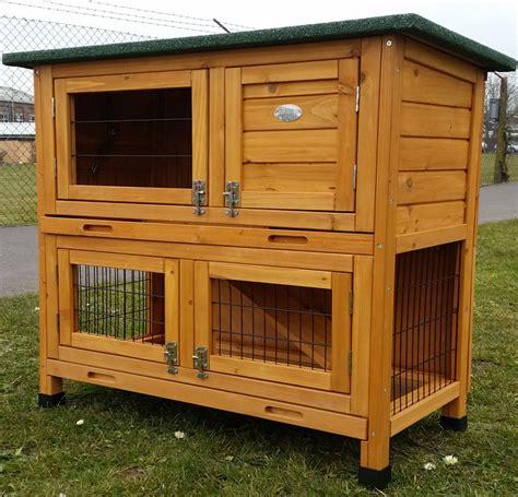 rabbit guinea pig hutch rabbit hutch guinea pig hutches run 2 tier decker