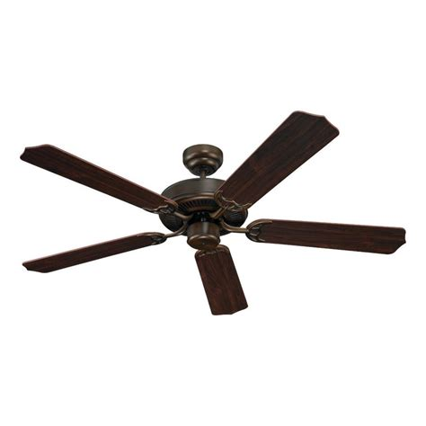 long downrod ceiling fan shop sea gull lighting quality max 52 in russet bronze