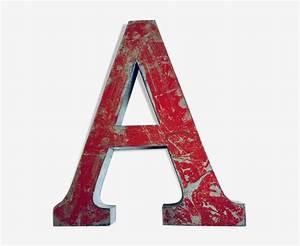 Lettre Metal Vintage : lettre a en m tal vintage m tal rouge industriel kgksum5 ~ Teatrodelosmanantiales.com Idées de Décoration