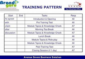 training module With training module template free