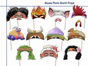Unique Moana Printable Photo Booth Props by