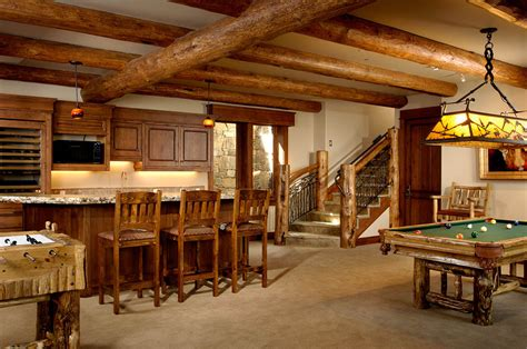 bar  bar meadows game room teton heritage builders