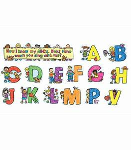 alphabet kids mini bulletin board set grade pk 1 With letter cutter for bulletin boards