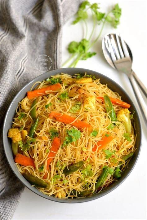 singapore noodles veg singapore mei fun cooking  heart singapore noodles vegetable